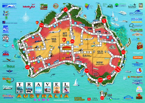Travel Games Australia | View the Game Board